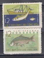 Vietnam Nord 1963 - Fischzucht, Mi-Nr. 262/63, MNH** - Vietnam