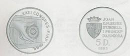 ANDORRA 1 MONEDA DE 15 GRAMOS DE PLATA Nº 106  TIRADA  3.000.  SERVEI D'EMISSIÓNS  (E.M. - Andorra