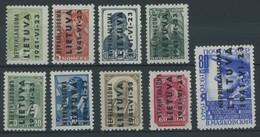 ALEDSCHEN 1-9 **, 1941, Werktätige, Postfrischer Prachtsatz, 2 K. Kurzbefund Huylmans, Mi. 220.- - Occupation 1938-45