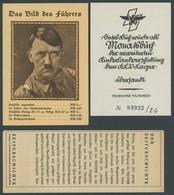 DT. GESCHICHTE/PROPAGANDA 1919-45 Buchbestellung (Leporello) Mit Das Bild Des Führers Und Ein Inventarklebezettel Dieses - Lettres