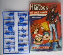 BOITE 16 FIGURINES - ALBATOR  - ATLANTIC 1979 - EN GRAPPE ALBATOR  Boîte Italienne CAPITAINE HARLOCK (2) - Goldorak