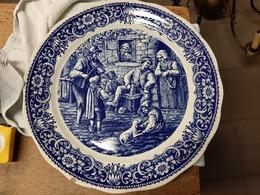 Boch Freres La Louviere België Delfts Blauw Met Een Breugel Afbeelding - Boch (BEL)