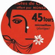 PUBLICITE MONSAVON - 45 Tours Microsillon Plastique - Formats Spéciaux