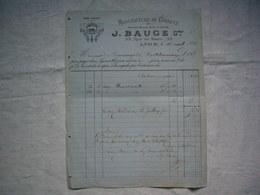 Facture Illustrée 1886 Manufacture De Corsets J. Bauge à Lyon - 1800 – 1899