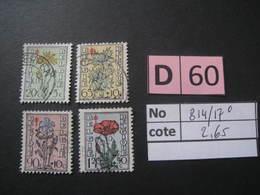 Timbres Anciens Vendus à 15% De La Valeur Catalogue  COB 814/817 Oblitéré - Autres