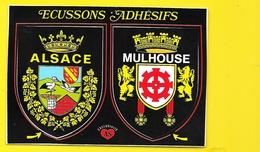 MULHOUSE Blasons Autocollants (Editions De L'Est) Haut Rhin (68) - Mulhouse