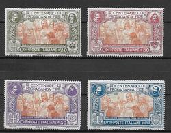 Italy - Italia -  1923 Mi. Nr. 161-164 - Ungebraucht