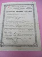 Diplome/CEP/ RF/Instr. Publique/Acad. De CAEN/ Dépt De L'ORNE/Levayer/Alençon/DAMBRICOURT Fréres/Wizernes/1891    DIP217 - Diplômes & Bulletins Scolaires