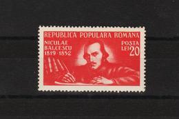 1948 - L Ecrivain Nicolae Balcescu  Mi 1169 Et Yv 1070 MNH - Ungebraucht