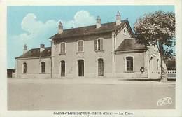 - Cher -ref-646- Saint Florent Sur Cher - St Florent Sur Cher - La Gare - Gares - Ligne De Chemin De Fer -carte Bon Etat - Saint-Florent-sur-Cher