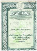 Titre Ancien - Tissages & Dentelles - Anciens Ets Stroobant-Boogaerdts - Titre De 1929 - - Textile