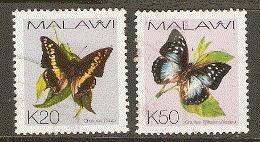 Malawi  2002  SG 1010-11   Butterflies  Fine Used - Malawi
