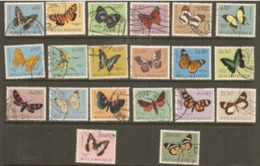 Mozambique  1953  SG  472-91    Butterflies  Fine Used - Mozambique