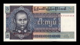Burma Birmania 5 Kyats 1973 Pick 57 SC UNC - Myanmar