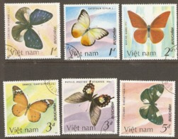 Viet Nam  1986   Butterflies Various Values   Fine Used - Vietnam