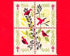 USA - STATI UNITI - Usato - 1966 - Natale - Greeting - Christmas - TBC - Etichette - Stati Uniti