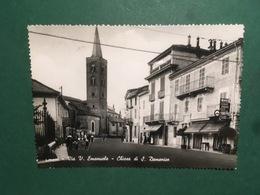 Cartolina Chieri - Via V. Emanuele - Chiesa Di S. Domenico - 1955 - Italie