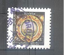 France Autoadhésif Oblitéré (assiette N°3) (cachet Rond) - Frankrijk