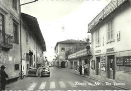 Rovetta (Bergamo) Via Fantoni, Edicola Tabaccheria E Auto D'Epoca, Car, Voiture - Bergamo