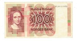 BILLET NORVEGE - 100 KRONER - COURONNES NORVEGIENNES - HL0111952 - 1980 - Norvège