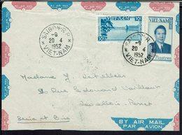 Vietnam -  Enveloppe De Saigon Pour Levallois Perret 20-4-1952 - B/TB - - Viêt-Nam