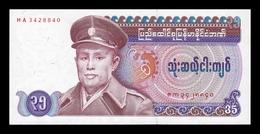 Burma Birmania 35 Kyats 1986 Pick 63 SC UNC - Myanmar
