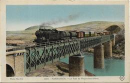 MAROC MARRAKECH Le Pont De Mechra Ben Abbou.Passage D' Un Train - Marrakech