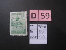 Timbres Anciens Vendus à 20% De La Valeur Catalogue  COB 827** - Autres