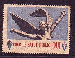 Vignette - Général De Gaulle - Pour Le Salut Public : Oui ...... - Non Classés
