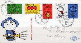 Kinderzeichnung 1969 Nederland 928/2 Zu Bl.8 FDC 8€ VhK Tanz Geige Trommel Sheet Children Music Cover Bf Netherland - Covers & Documents