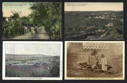 Conjunto De 4 Postais Antigos De ANADIA: Vindimadeiras Quinta Das Felgueiras + Vale Da Mó + Arcos E Famalicão PORTUGAL - Aveiro