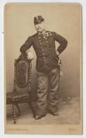 -VERONA             CARTONCINO  DA  VISITA    1860-1900  (DIM. 6-6,5 X 10-10,5)    2  SCAN - Tarjetas De Visita