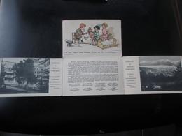 Cpa  A  Système Dépliant à 4 Volets Illustrateur POULBOT Pour Les PUPILLES De L' ECOLE PUBLIQUE A ODEILLO_TBE - Francia