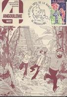 CARTE POSTALE TINTIN ANGOULEME 1977 - Cartes Postales