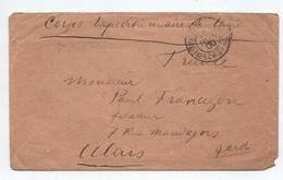 1900 - ENVELOPPE FM MILITAIRE Du CORPS EXPEDITIONNAIRE DE CHINE (CHINA) Pour ALAIS / ALES (GARD) - Cina