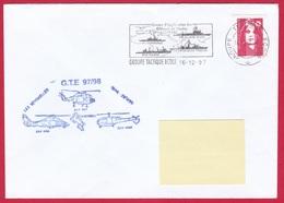 3772 Marine, Groupe Tactique Ecole, GTE 97-98, Escale Aux Séchelles, Oblit. Mécanique GTE, 16-12-1997, Lynx, Alouette, D - Marcophilie (Lettres)