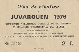 JUVA ROUEN 1976 : Bon De Soutien. 2F. - Autres