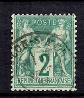 France Sage YT N° 62 Oblitéré. B/TB. A Saisir! - 1876-1878 Sage (Type I)