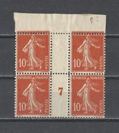 FRANCE.  YT  N° 138  Variété Millésimes Dentelures Décalées Neuf **/*  1907 - 1906-38 Semeuse Camée