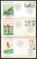 French Polynesia Tahiti 1971 Water Ski World Cup 3 FDC - Ski Nautique