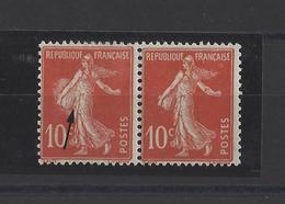 FRANCE.  YT  N° 138  Variété Impréssion  Neuf *  1907 - 1906-38 Semeuse Camée