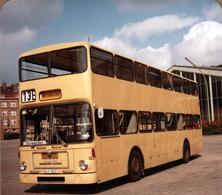 Photo Carrée Coul. Originale Bus à Impériale De Berlin (BVG) Avec Châssis MAN Et Carrosserie Waggon Union - Betriebsfahr - Auto's