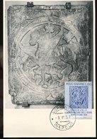 50943 Italia,maximum 1959 Visit Of The Shah Of Persia/iran Mohammad Reza Pahlavi,sculpture Of The Church Sorrento - Maximumkarten (MC)