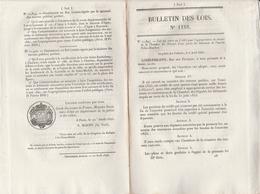 Bulletin Des Lois 1188 De 1845 Route Départementale Lot Et Garonne Agen Cahors - Côte Saint Barthélémy Chartes - Décrets & Lois