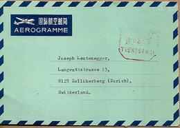 P.R.CHINA AEROGRAMME Sent To Zurich No Stamps COVER USED - China