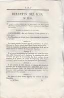 Bulletin Des Lois 1190 De 1845 Restes Mortels Invalides - Modifications Communes Eure, Isère, Marne, Ain Brion - Décrets & Lois