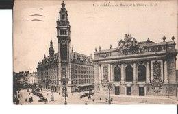 1. Lille. La Bourse Et Le Théâtre. De Andrée Revel à Melle Madeleine Bezier Le Havre. 1924. E. Cailleux à Lille. - Lille