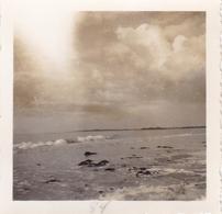 PHOTO ORIGINALE 39 / 45 WW2 WEHRMACHT FRANCE ÎLE DE RÉ VUE SUR L OCÉAN ET LA COTE - Krieg, Militär