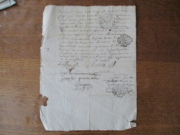 17 MARS 1792 MANUSCRIT CACHETS G.D.BOURGES C.DEF.1SOL 2 D  ET LA LOI LE ROI MINUTE 2.S.O.L. - Cachets Généralité