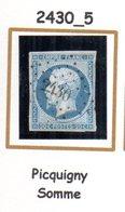 FRANCE : Petit Chiffre N° 2430 : Picquigny ( Somme  ) Indice 5 - Marcophilie (Timbres Détachés)